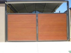 Double Swing Wooden Grain Slats-6
