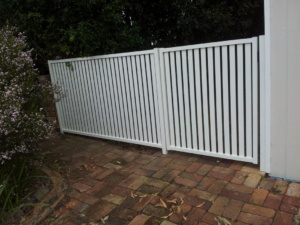 Gate With Side Panel-Powder Coated-9