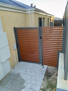 Gate With Side Panel-Wooden Grain-18