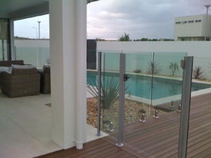 Semi Framless Glass Pool fence-7