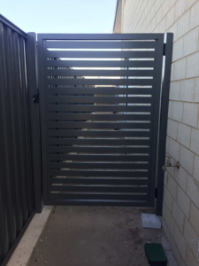 Welded frame single gate-Powder Coated Slats-10