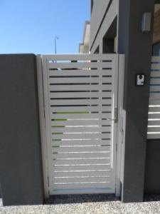 Welded frame single gate-Powder Coated Slats-4