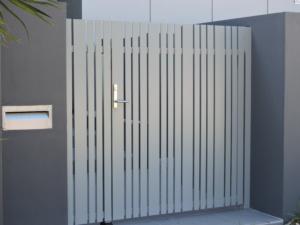 Welded frame single gate-Vertical Slats-6