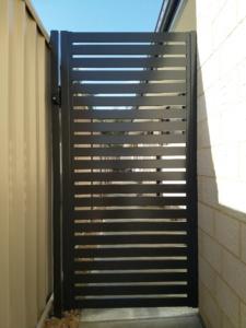 Weldless single gate-Powder Coated slats-4