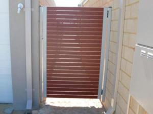 Weldless single gate-Wooden Grain Slats-1